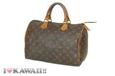 Authentic Louis Vuitton Monogram Speedy 30 Bag Hand Purse Boston Free Shipping!