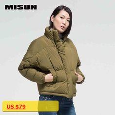 MISUN brand new autumn and winter 2016 women Korean casual skin-friendly coats thicker down jacket