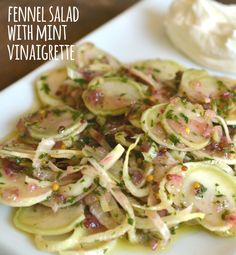 Fennel Salad with Mint Vinaigrette - This shaved fennel salad from Simply Recipes is what really helped change our opinion on fennel. The crunch of the fennel paired with the mint vinaigrette and cool yogurt had us dreaming about this salad for days afterward.