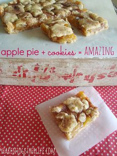 Apple Pie Snickerdoodle Cookie Bars