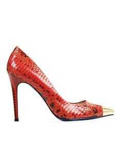 Need to find knock-offs of these metal cap-toe heels since $225.00 pumps aren't in my budget. @Janelli Kelsey - lookie!!