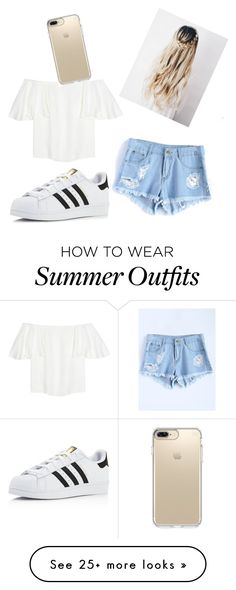 """Summer Outfit"" by tutenaddison on Polyvore featuring Valentino, adidas and Speck"