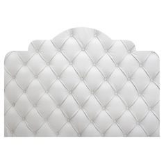 White Faux Tufted Adhesive Headboard Wall Decal