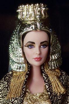 Liz Taylor Cleopatra, by Bob Mackie for Barbie. http://creativelymindful.blogspot.com/