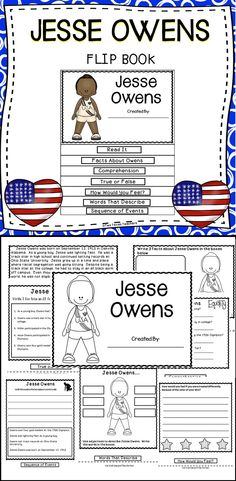 Jesse Owens Flip Book - Students Will Have Fun And Be Engaged While Learning About The Important Accomplishments Of Jesse Owens.