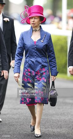Princess Anne, The Princess Royal attends Day 3, Ladies Day, of Royal Ascot at Ascot Racecourse