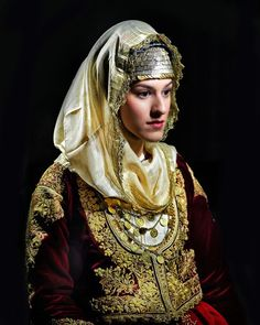 Greek bride from the past (Pharyah) Traditional Dresses, Traditional Art, Traditional Wedding, Greek Dress, Greek Culture, Folk Costume, Ethnic Fashion, Bride, Greek Costumes