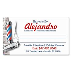 220 best barber business cards images on pinterest in 2018 barber barber business card barber pole shears friedricerecipe Choice Image