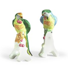 Chelsea House Ceramic Parrot with Cherries Sculpture (Set of Two) Home Decor Shops, Luxury Home Decor, House Lamp, House 2, Flame Art, Modern Ceramics, Vintage Pottery, Hand Painted Ceramics, Ceramic Painting