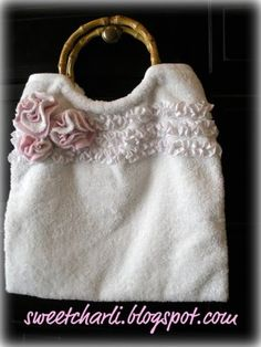 I have been on a handbag kick lately. Today I am sharing my Hand Towel Tote Bag Tutorial. I hope you all enjoy it! Dinosaur Tails, Dragon Tail, Tote Tutorial, Cute Crafts, Sewing Tutorials, Hand Towels, Reusable Tote Bags, Handbags, Purses