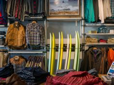 Incorporating hard-goods with soft-goods to strengthen merchandising story.