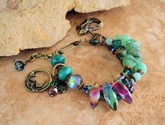 Mermaid Art Bracelet Boho Bracelet Multi Strand by BohoStyleMe
