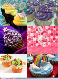 My Little Pony Friendship is Magic themed cupcakes. Ponies and cupcakes two of my favorite things! Would be way cool for a pony party!