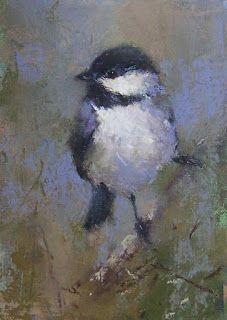 Daily Pastel Painting - Chickadee