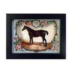Run for the Roses Horse 3D Shadow Box Wall Art Antique | Etsy
