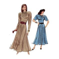 Very Easy Dress Sewing Pattern Gathered Bodice by HoneymoonBus
