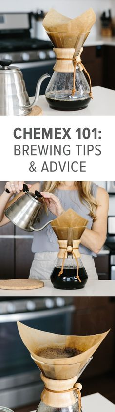 Brewing coffee in your Chemex Coffee Maker is easy! Here's step-by-step instructions along with a video tutorial and tips on filters and cleaning your Chemex.