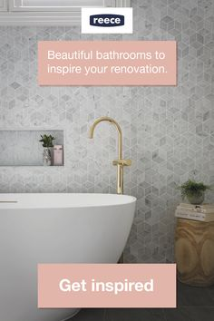 bathroom splashback Be Inspired By These Australian Bathroom Kitchen And Garden Bathroom Design Inspiration, Modern Bathroom Design, Bathroom Interior Design, Bathroom Inspo, Bathroom Ideas, Hampton Style Bathrooms, Upstairs Bathrooms, Reece Bathroom, Laundry In Bathroom
