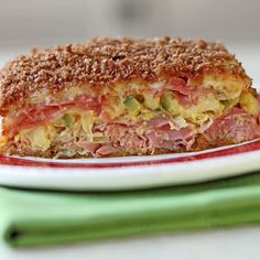 Baked Reuben Casserole with all of the ingredients found on a Reuben sandwich.