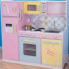 Toy Kitchens for Little Girls | Personalized Play Kitchen For Girls - Kid Gifts