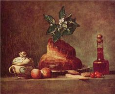 La Brioche - Chardin, Jean-Baptiste-Simeon (French, 1699 - Fine Art Reproductions, Oil Painting Reproductions - Art for Sale at Bohemain Fine Art Canvas Art Prints, Painting Prints, Oil On Canvas, Paintings, Painting Still Life, Still Life Art, Harper's Magazine, Louvre Paris, Jean Baptiste