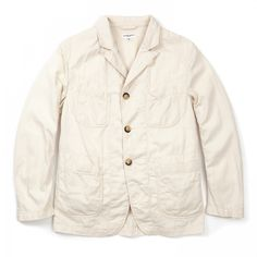 Engineered Garments 6.5 Flat Twill Bedford Jacket Natural