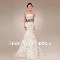 Hot selling custom made modern mermaid white tulle bridal dress with handmade flower  prom dress wedding dress cocktail dress $120.00