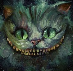 We're All Mad Here, The Cheshire Cat, Alice in Wonderland, Fan Art