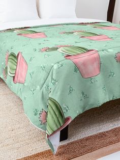 'Cactus Design' Comforter by Shane Simpson College Dorm Rooms, College Dorm Bedding, Buy Cactus, Make Your Bed, Square Quilt, Twin Xl, King Size, Quilt Patterns, Comforters