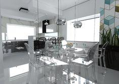 Jadalnia w domu jednorodzinnym, Siadło Dolne, 2016 – REMA DESIGN Chandelier, Dining Table, Ceiling Lights, Lighting, Furniture, Home Decor, Candelabra, Decoration Home, Room Decor