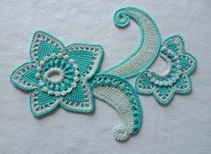 Irish crochet motif by guadalupe Freeform Crochet, Crochet Art, Crochet Motif, Crochet Designs, Crochet Flowers, Crochet Stitches, Crochet Patterns, Crochet Ideas, Irish Crochet Tutorial