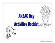 Worksheets and colouring in pages to reinforce ANZAC Day activities. School Worksheets, School Resources, Teaching Resources, Australia Crafts, Australia Day, Kindergarten Activities, Activities For Kids, Preschool, First Day Of School
