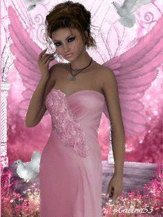 Beautiful Gif, Beautiful Fairies, Beautiful Girl Image, Beautiful Artwork, Fantasy Art Women, 3d Fantasy, Fantasy Girl, Fairy Pictures, Angel Pictures
