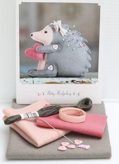 hedgehog pincushion kit