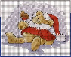 Christmas bear pattern cross stich