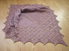 Such an easy knit - gorgeous design, gorgeous yarn. I beaded as suggested, but I think if I did it again I wouldn't bead in the stocking stitch section since it kinda detracts from the eyelets.