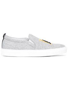 JOSHUA SANDERS NY patch slip-on sneakers. #joshuasanders #shoes #sneakers