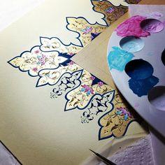 """513 Beğenme, 34 Yorum - Instagram'da Dilara Yarcı Diniz (@dilarayrc): """"#workinprogress #working #artwork #artcollective #handmade #islamicart #traditionalart #mywork…"""""""