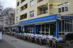 """""""Ach Niko Ach"""", ist ein Griechisches Spezialitäten Restaurant, mit Internationalem Flair. Seit über 20 Jahren ein Begriff für gutes Essen und gute Laune in Berlin am Kurfürstendamm."""