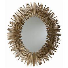 Prescott Oval Iron Mirror   Tonic Home