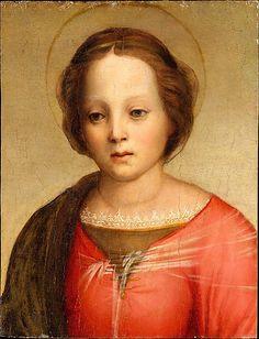 Head of the Madonna,  ca. 1509, Franciabigio (Francesco di Cristofano)  (Italian, Florence 1484–1525 Florence).  The Friedsam Collection