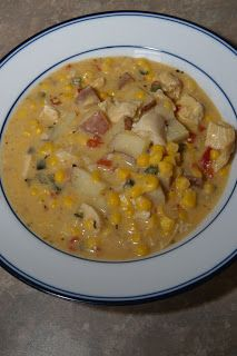 Chipotle Chicken and Corn Chowder