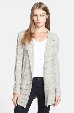 NIC ZOE Mixed Cable Cardigan available at #Nordstrom