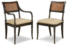 Mahogany Regency Hampton Dining Side & Arm Chair  These are nice too