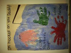 Happy Father's Day fish handprints