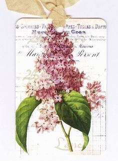 Gift Tags Vintage  Lilacs  French Style by Bluebird Lane