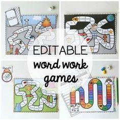 15 Word Work Games - Playdough To Plato Word Work Games, Word Work Stations, Word Work Activities, Sight Word Games, Stem Activities, Activities For Kids, Weather Activities, Spanish Activities, Preschool Ideas