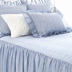 Savannah Linen Chambray French Blue Sham