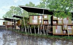 Sustainable modular houses by A++ Architects in Malaysia.