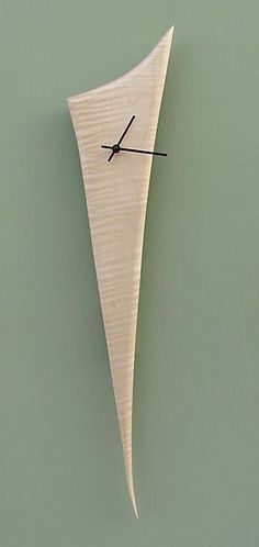 Stake Clock: Steve Uren: Wood Clock | Artful Home #WoodworkingClocks #antiqueclocks